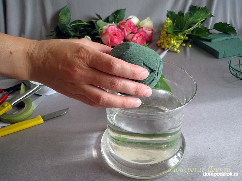 Букеты заказ, флористическая губка как сделать букет