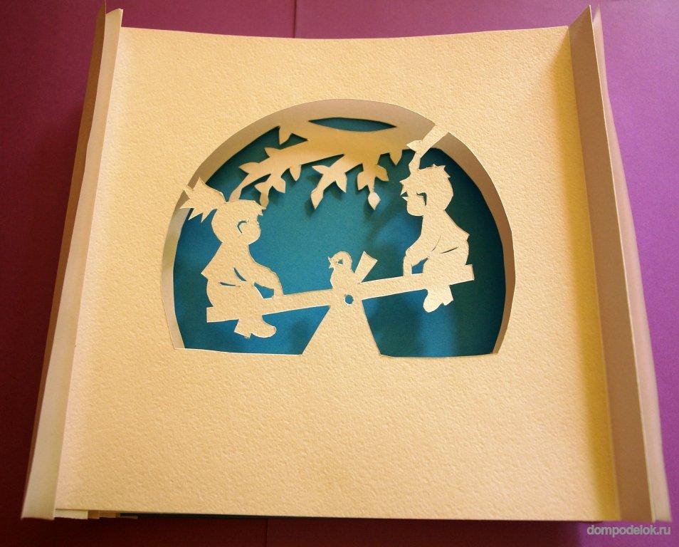 Открытка бумажный туннель на новый год мастер класс