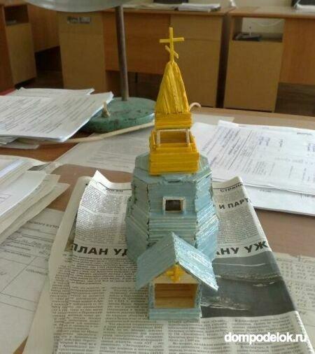 Как сделать своими руками макет церкви