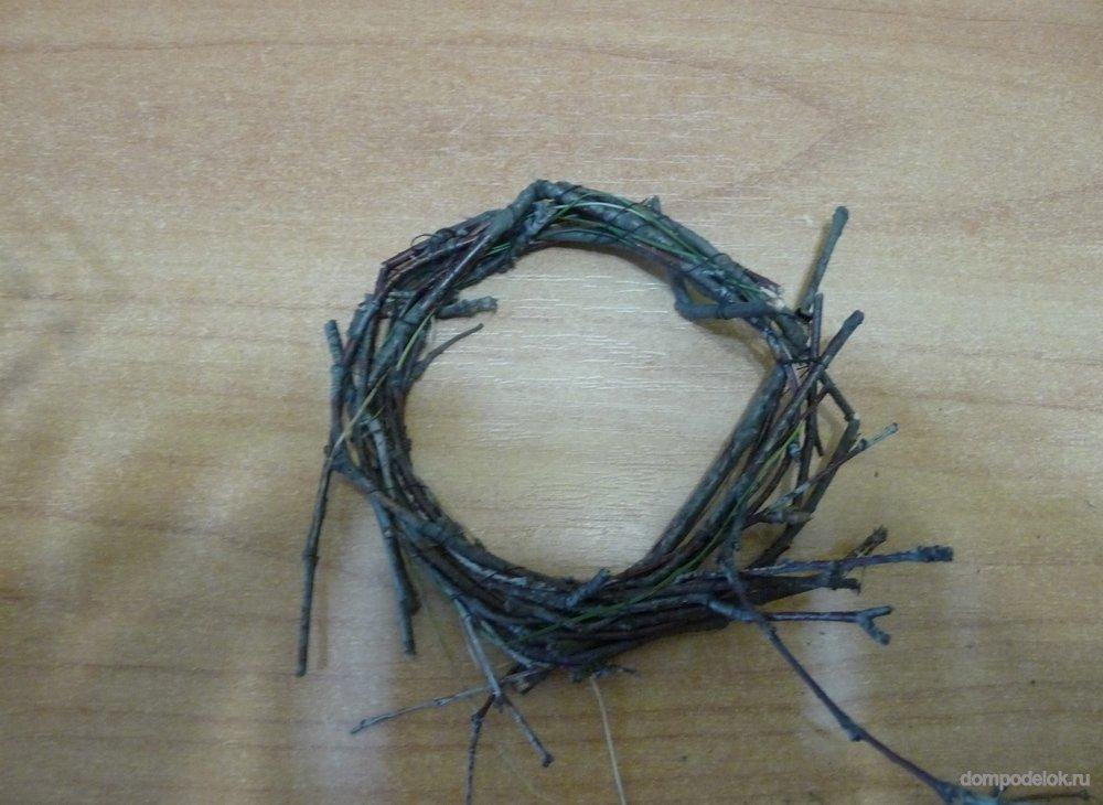 Поделка гнездо из веток своими руками