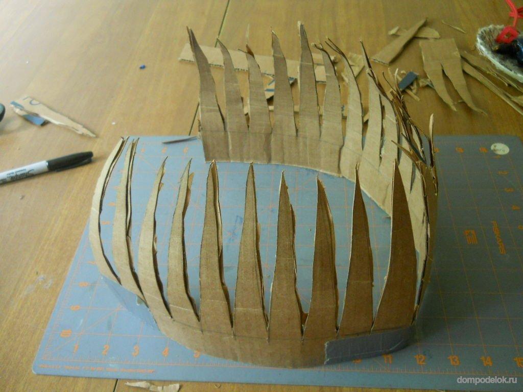 Шлем из картона своими руками схема фото 493