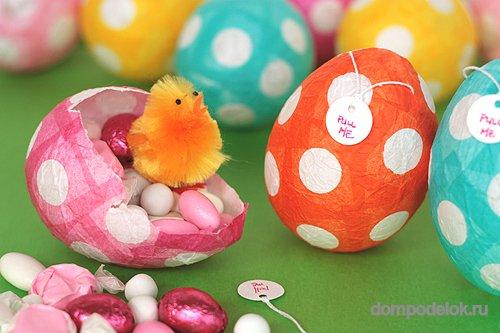 Поделки из яиц на пасху из бумаги