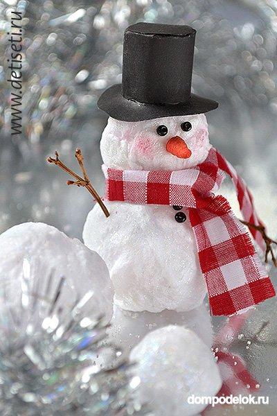 Снеговики из ваты на новый год