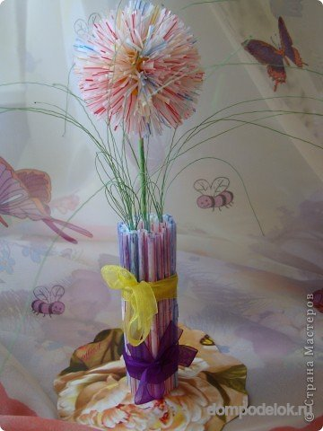 Цветок в вазе эскиз