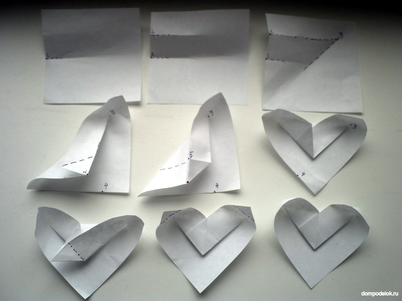 Своими руками сердце из бумаги