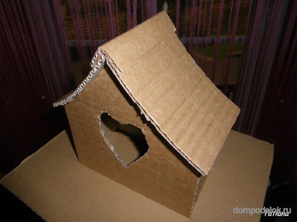 Поделки домикиз картона