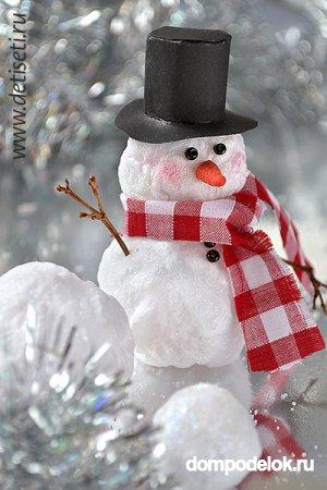 Поделка снеговика из ваты