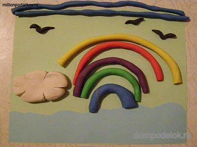 Поделки для детей из бумаги и пластилина