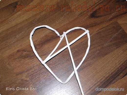 Сердце из картона и ниток