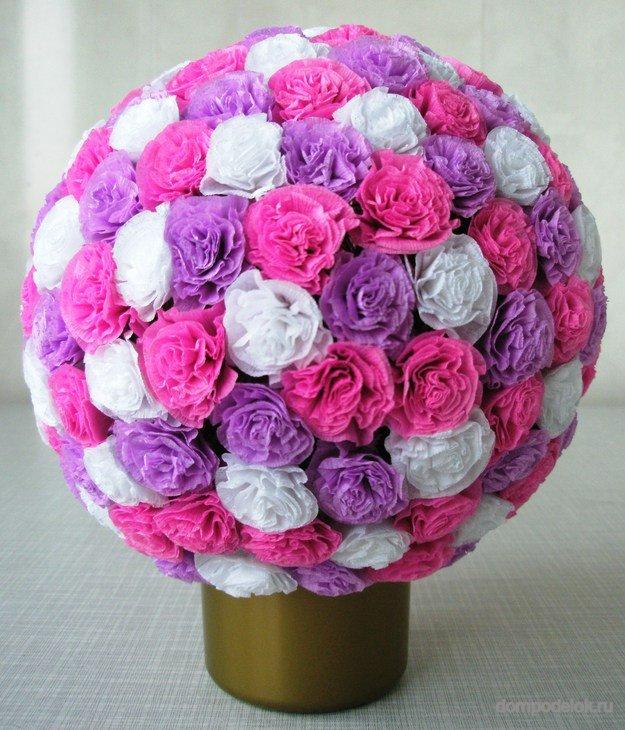 Цветы шары своими руками