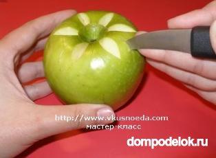Поделка из свежего яблока 279