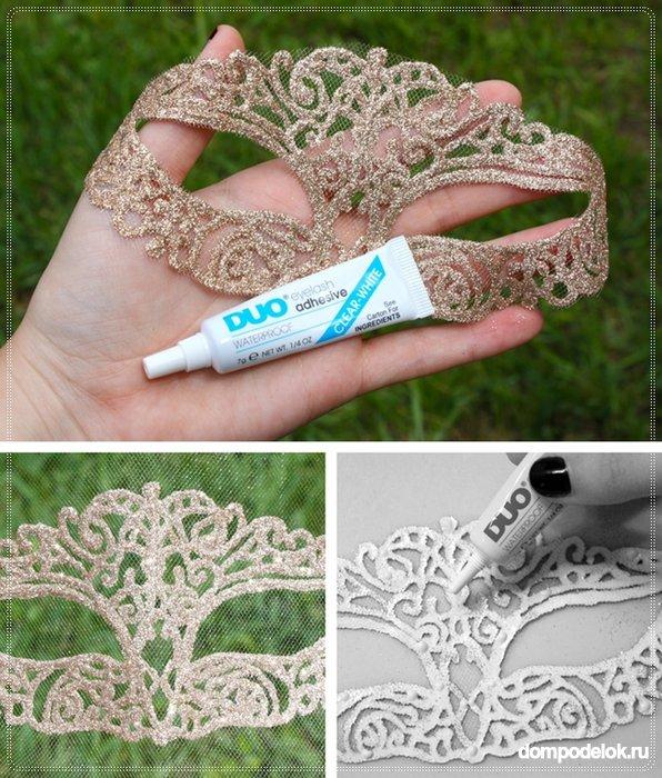 Как сделать кружевную маску своими руками