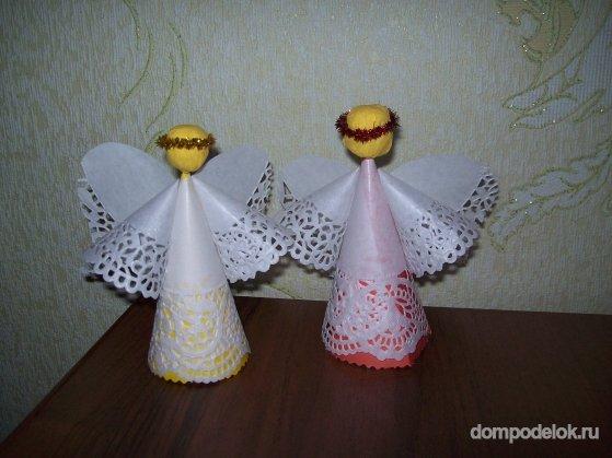 Ангелочки своими руками из салфетки