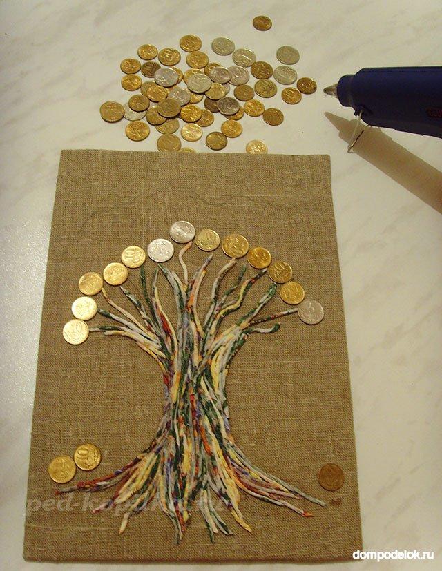 Сделать поделку денежное дерево