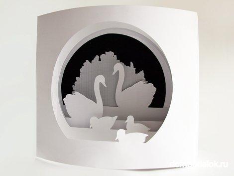 технике бумажный туннель.