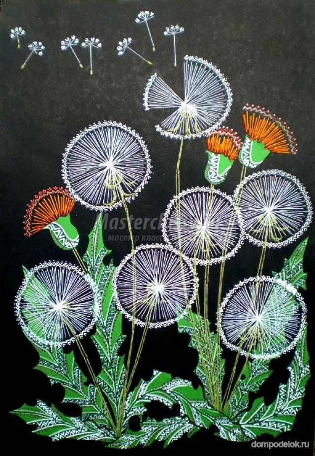 Букет цветов из открыток
