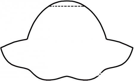 Открытка в виде шляпки