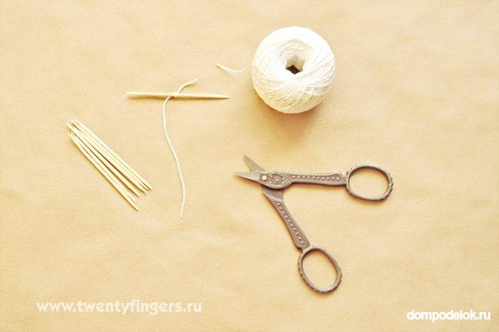 Как сделать фитиль с нитки