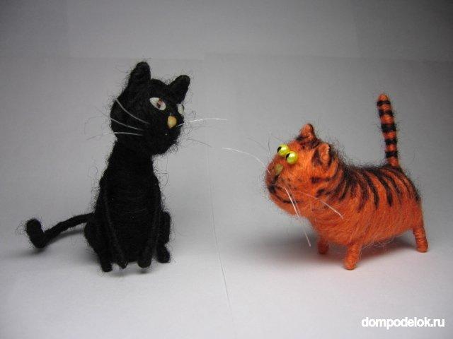 Кот из ниток своими руками