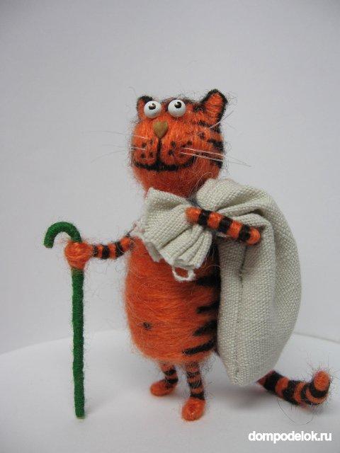 Котик из пробки своими руками 12