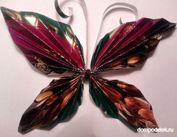 Поделки из фантиков от конфет своими руками пошагово с фото