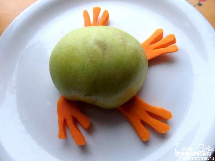 Лягушка из яблока » Поделки из бумаги