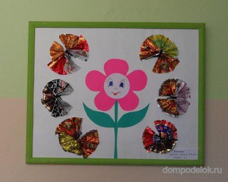 Поделки из конфетных фантиков своими руками для детского сада - Ванильный Носорог