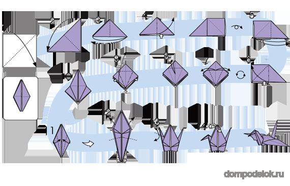 Журавлики оригами как сделать