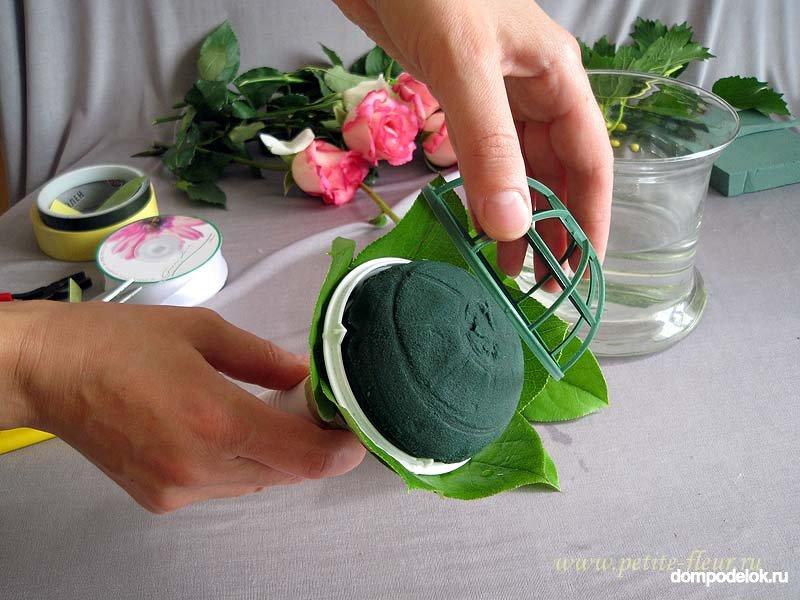 Портбукетница для искусственных цветов своими руками