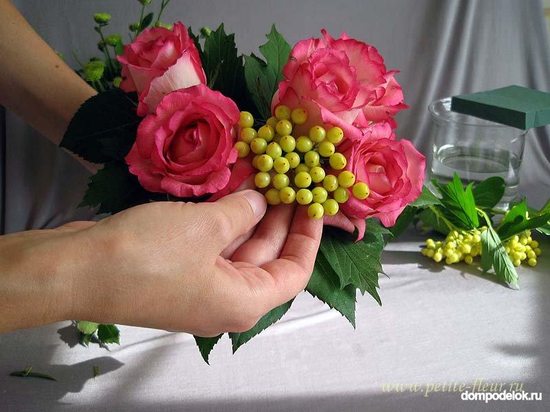 Букет невесты своими руками из живых цветов мастер класс