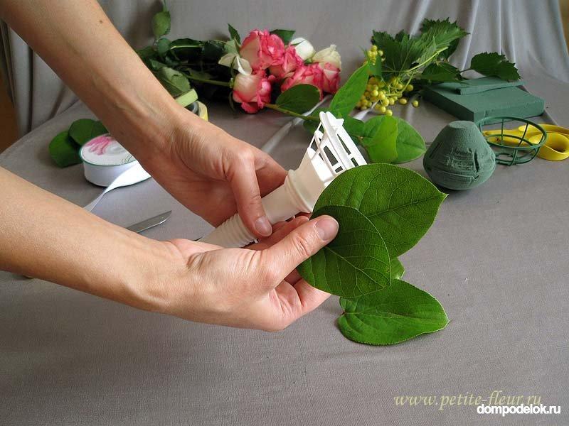 Своими руками сделать свадебный букет из живых цветов