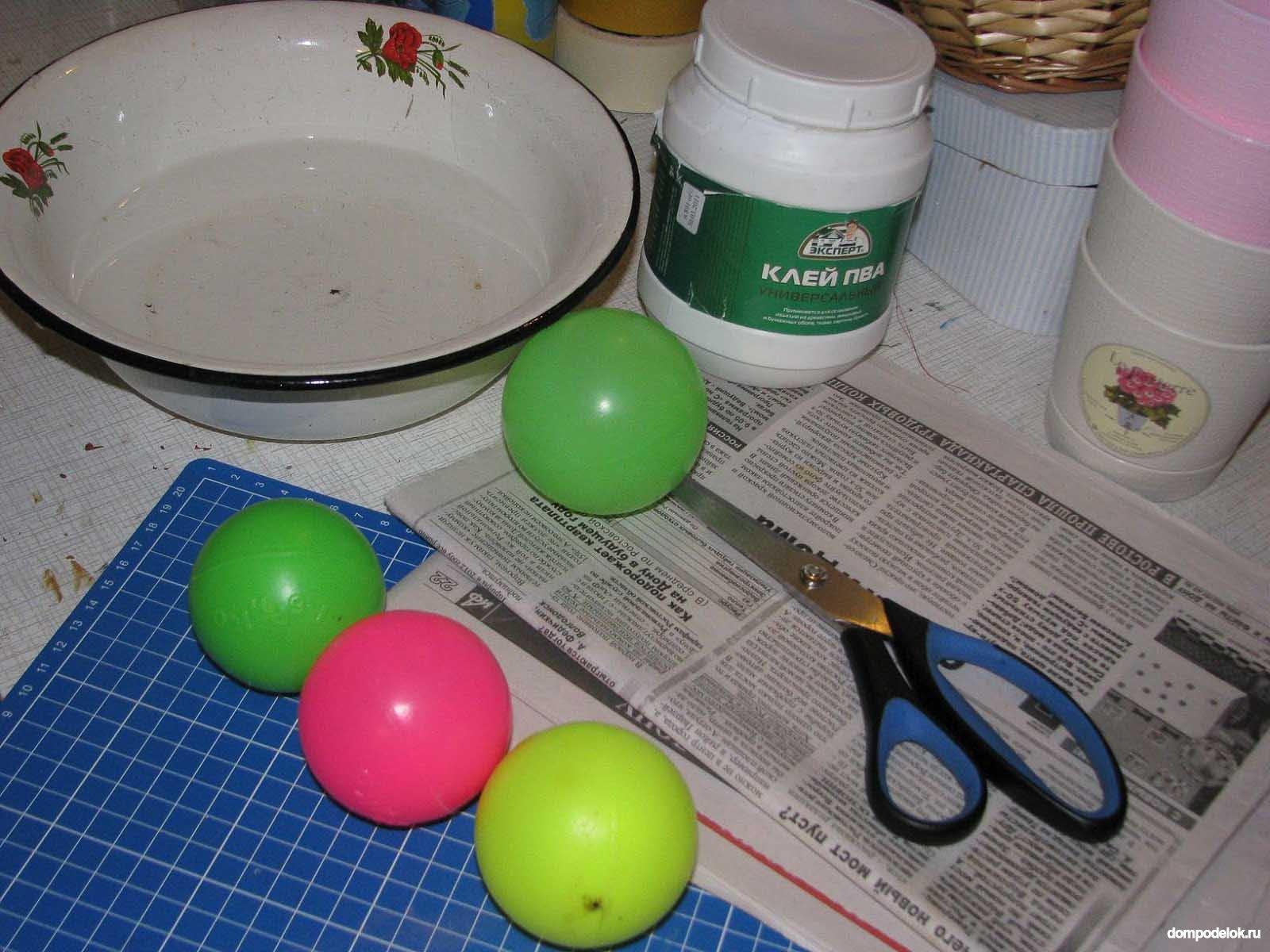 Поделки из шариков из сухого бассейна