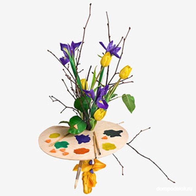 Цветочная композиция из живых цветов своими руками на день учителя 76