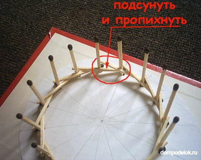 Как сделать колес из спичек 966