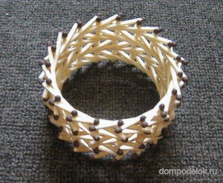 Кольцо своими руками из спичек