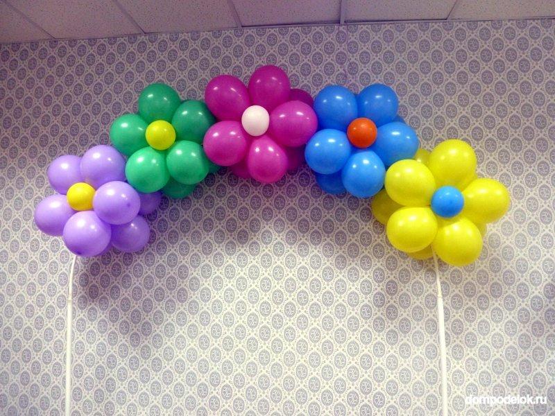 Поэтапно из воздушных шаров