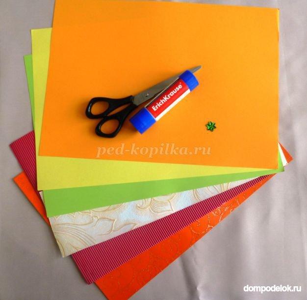 Поделки из цв.бумаги и картона