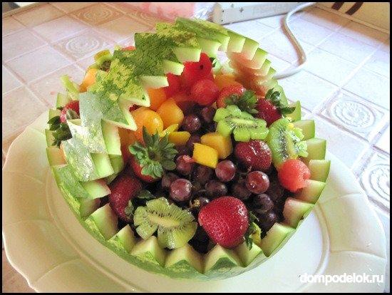 Поделка изделие Лепка Корзины с фруктами ягодами Ветки