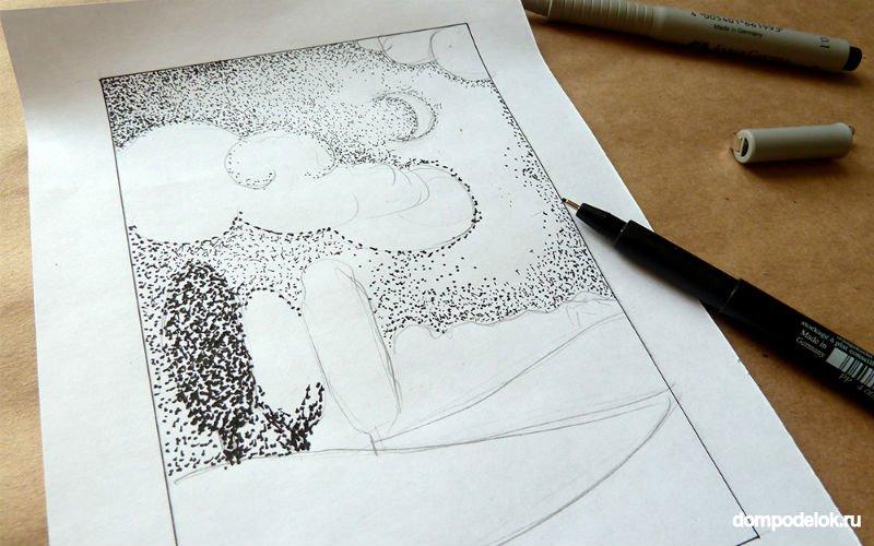 Как закреплять рисунок гелевой ручкой
