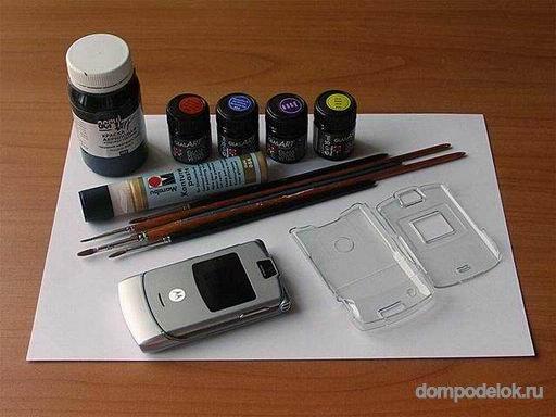 Краска для телефона своими руками