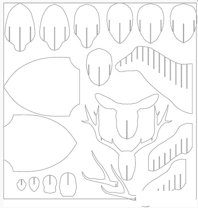 Голова оленя из бумаги схема сборки