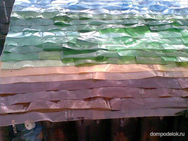 Крыша из пластиковой бутылки своими руками