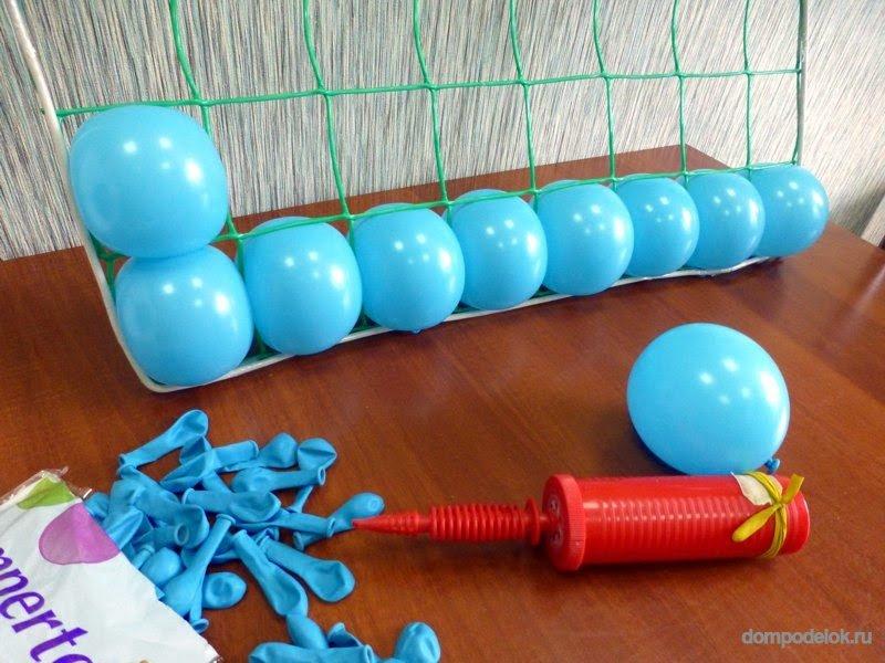 Как сделать ленту из шаров своими руками