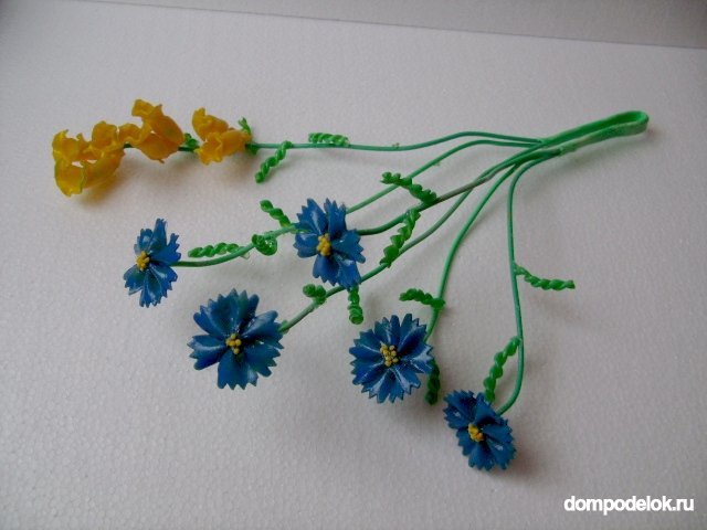 Цветок из макарон своими руками
