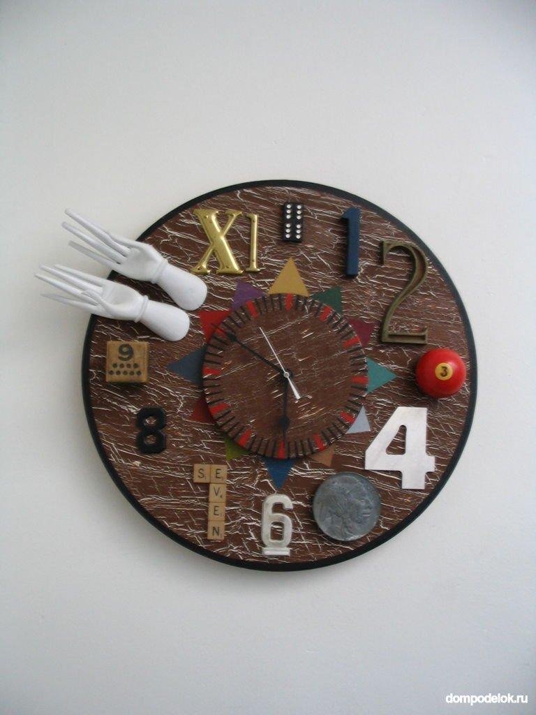 Часы  из картона мастер класс