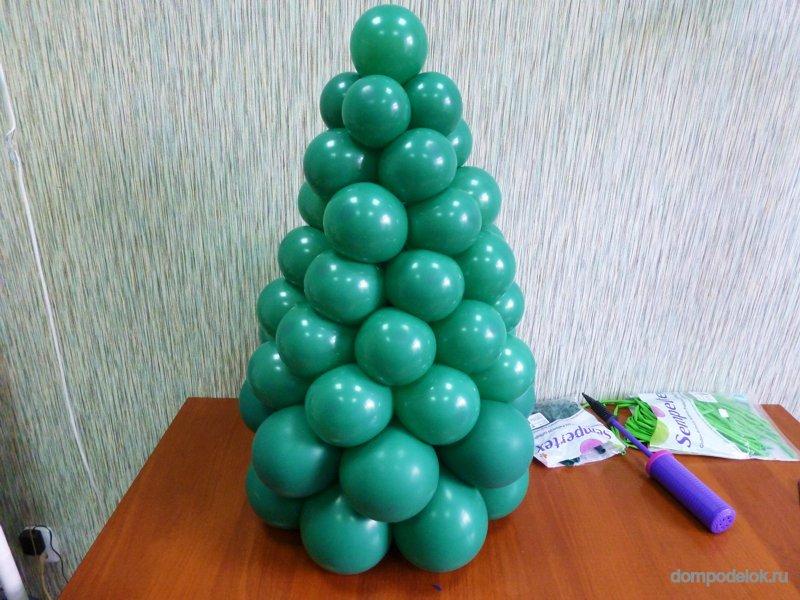 Елочки своими руками из шариков
