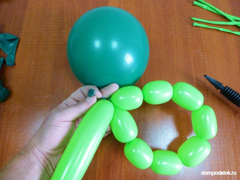 Елка из воздушных шаров своими руками мастер класс