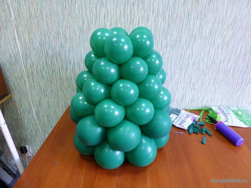 """Новогодняя елка среднего размера из воздушных шаров """" Поделки из бумаги, подарки своими руками, детские мастер классы"""
