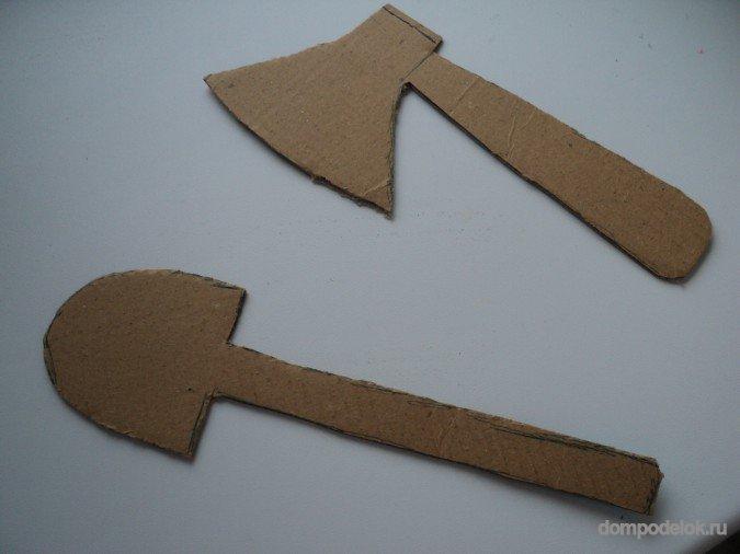 Как сделать топор из картона своими руками для сказки