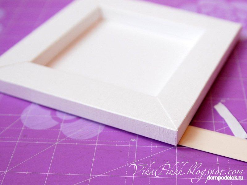 Как сделать рамку из белого картона